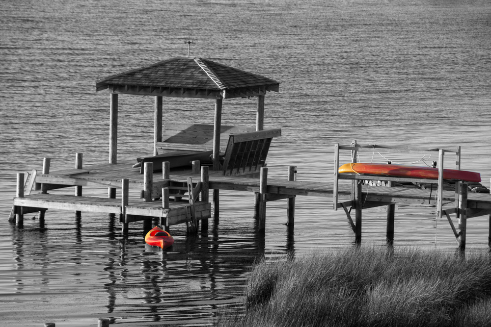 Kayaks and dock