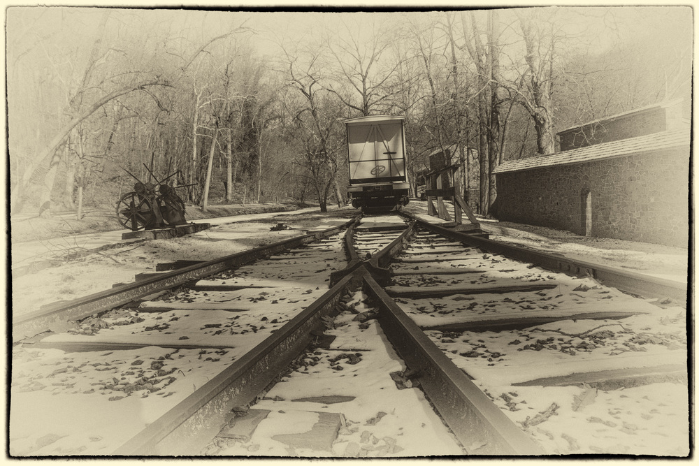 Tracks and boxcar