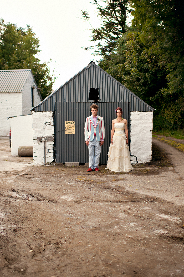 Quirky farm wedding photos