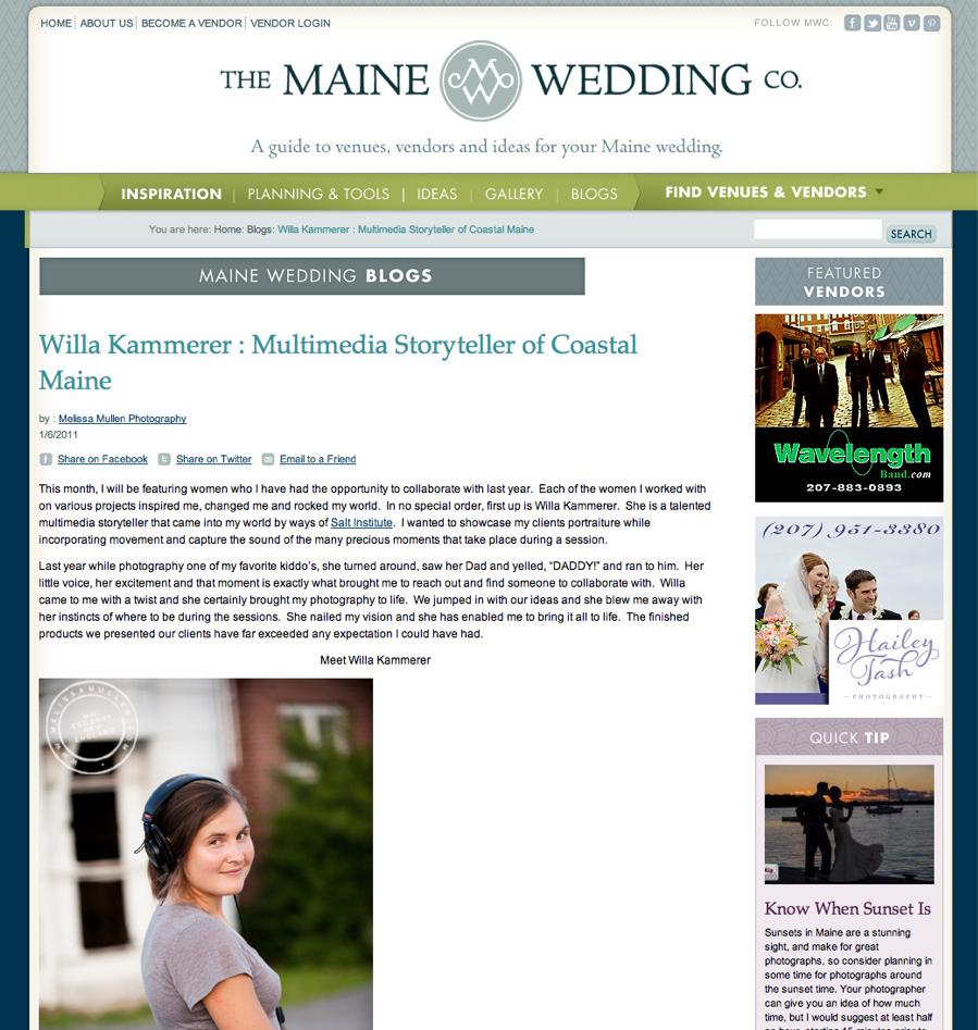 Willa Kammerer _ Multimedia Storyteller of Coastal Maine | Ultimate Guide To Maine Weddings.jpg