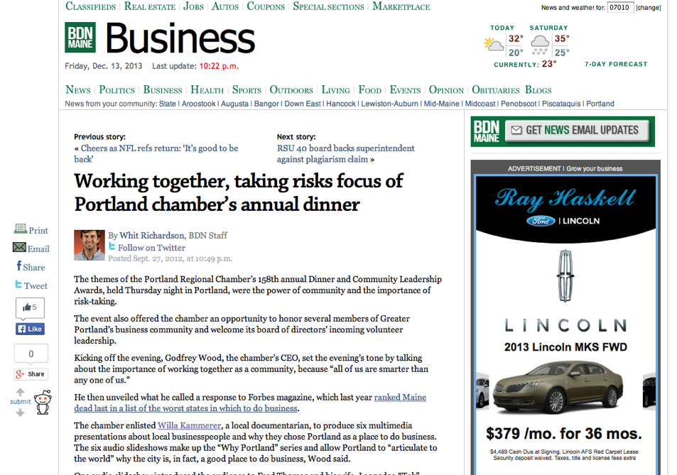 Working together, taking risks focus of Portland chamber's annual dinner — Business — Bangor Daily News — BDN Maine-1.jpg