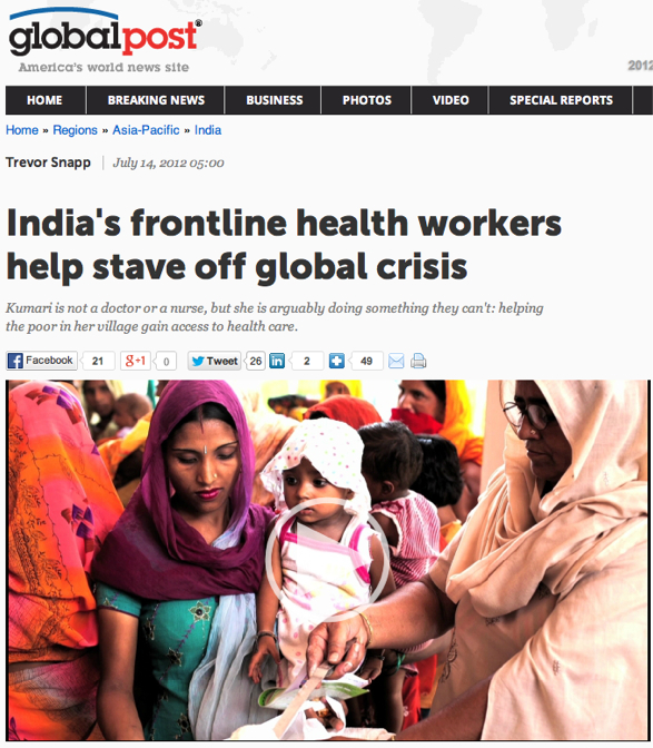 India_s frontline health workers help stave off global crisis | GlobalPost.jpg