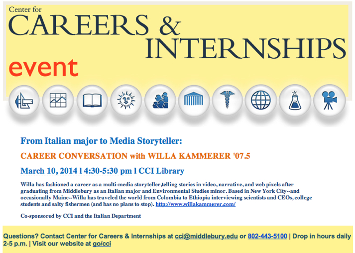 Career Conversation with MEDIA STORYTELLER Willa Kammerer 07.5_ MONDAY, MARCH 10 at CCI - w.kammerer@gmail.com - Gmail-1.jpg