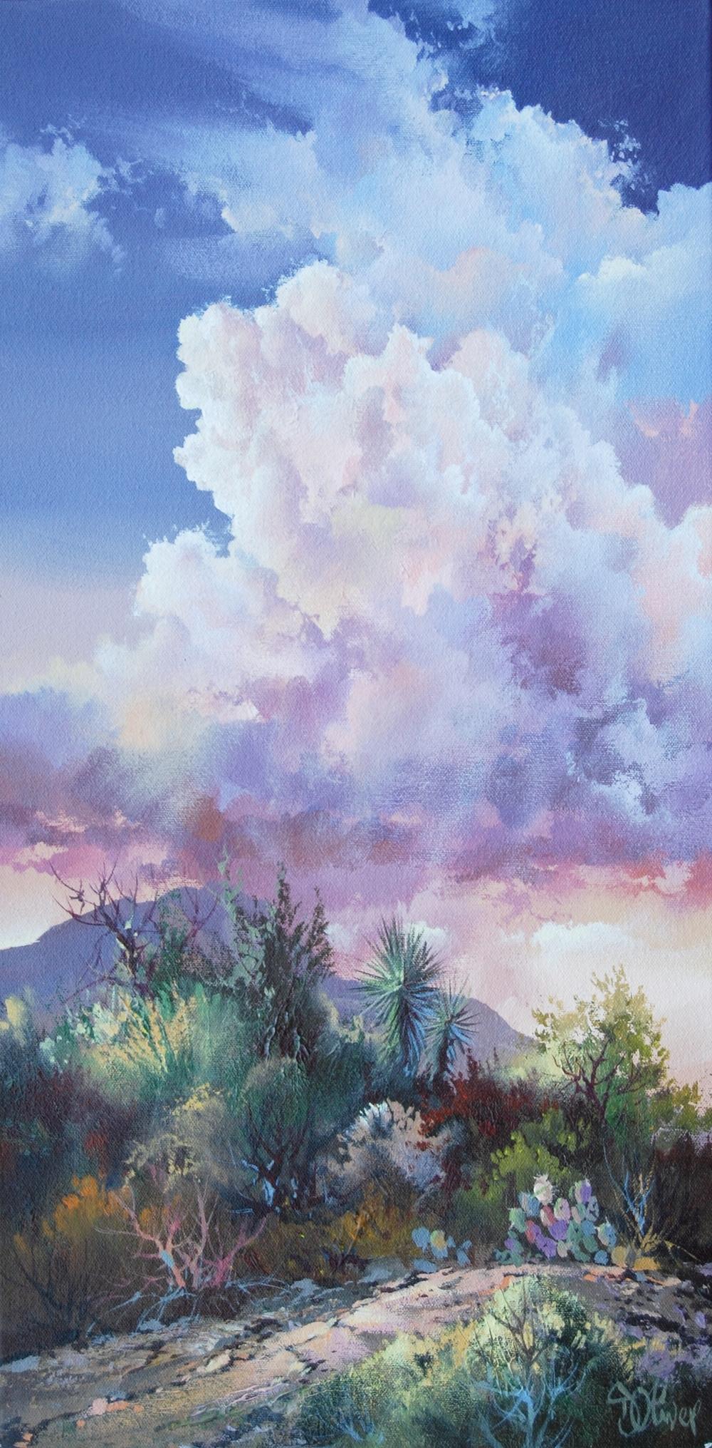 """Sonoran Sanctuary"" / 24x12 / $1,600.  SOLD"