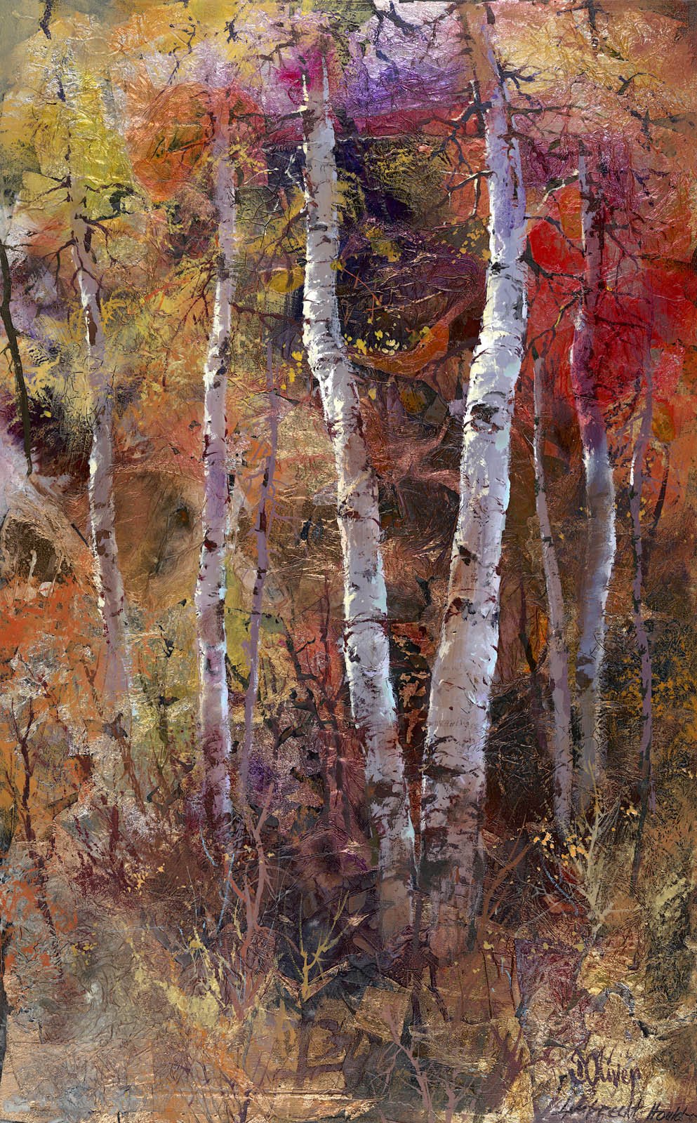 Chocolate Aspens     48 x 30       $5,500.           SOLD