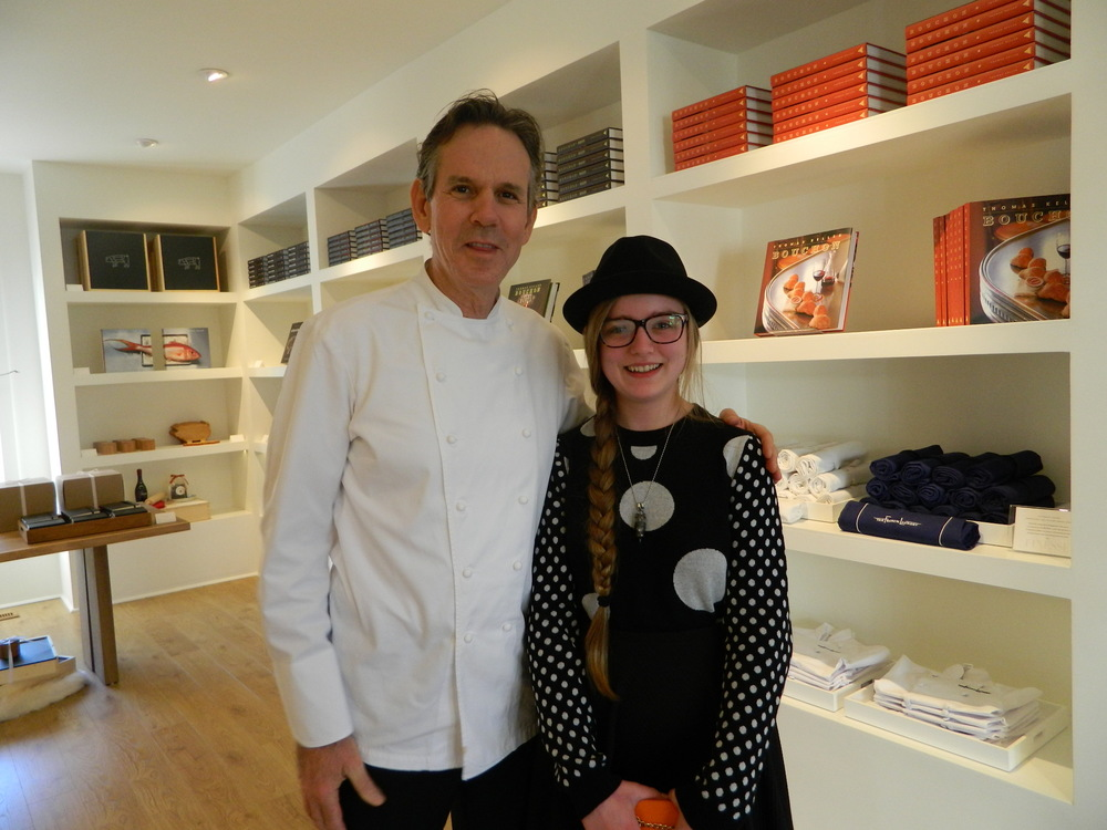 Maxine with the Man - how inspiring for a young chef!