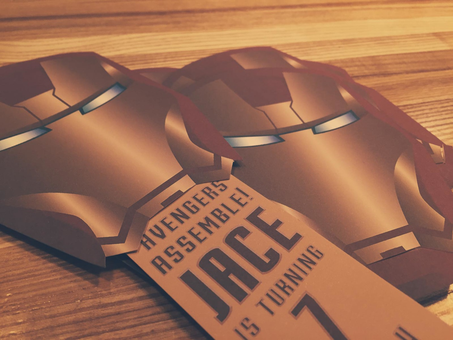 Iron Man Papercraft Birthday Invitations — Josh Byers