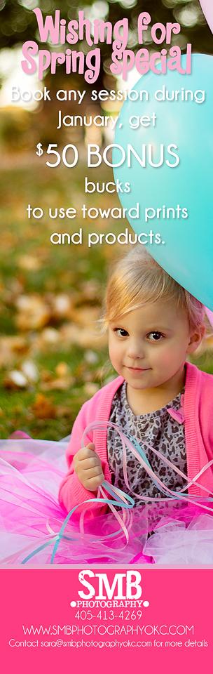 Oklahoma City Children's Photographer | January Special