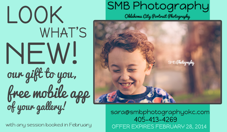 Oklahoma City Children's Photographer February Special