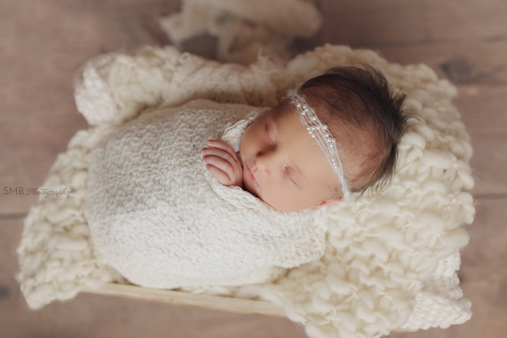 Newborn baby girl wrapped in crate in Blanchard Oklahoma
