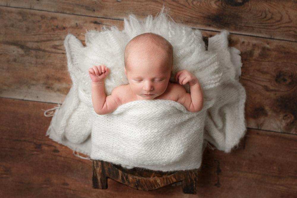 Easton | Wrapped Newborn Session Oklahoma City