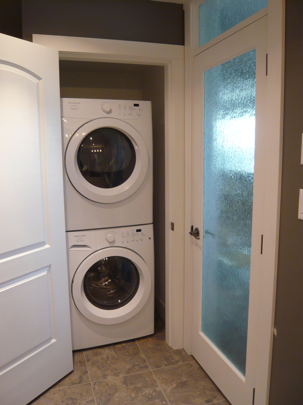 Stackable Washer/Dryer in Bathroom