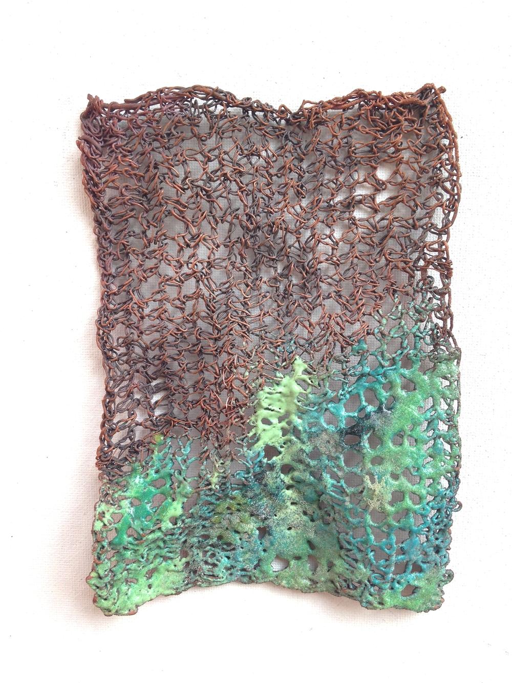 The Art of Erosion,2014.  Copper, enamel
