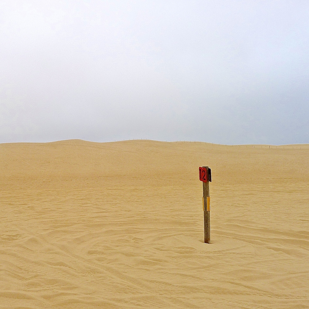 2 mile marker, Central Coast Dunes, California