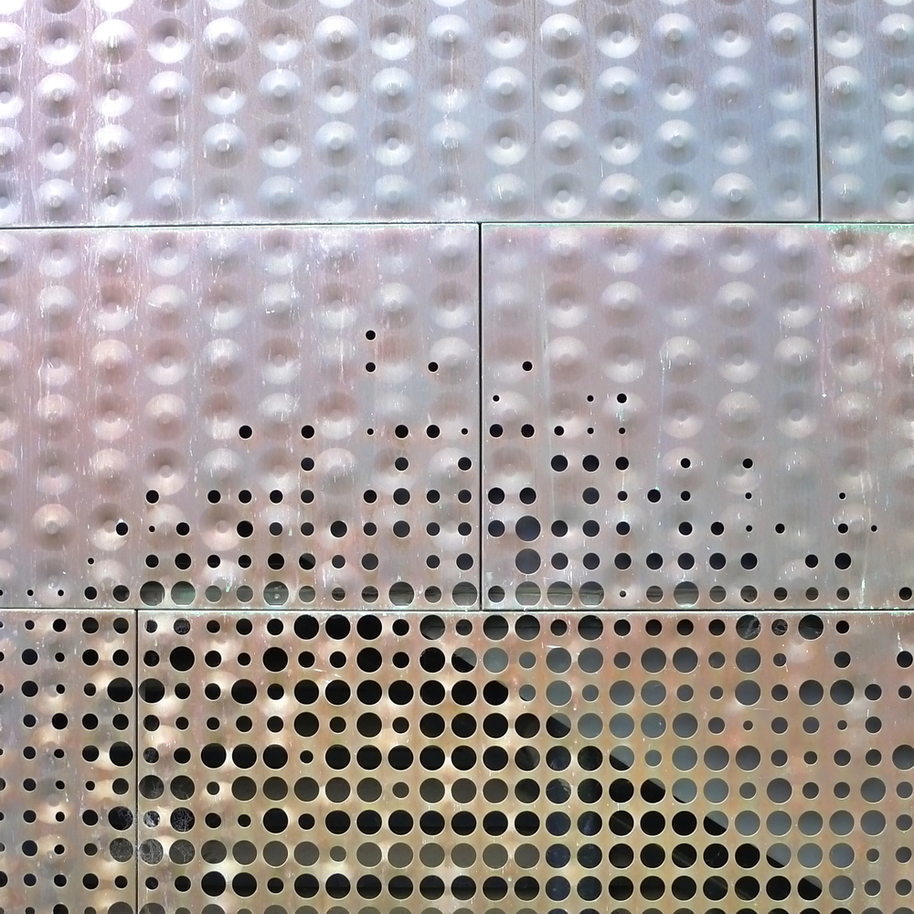 Perforated Copper Siding, de Young Museum, San Francisco, California
