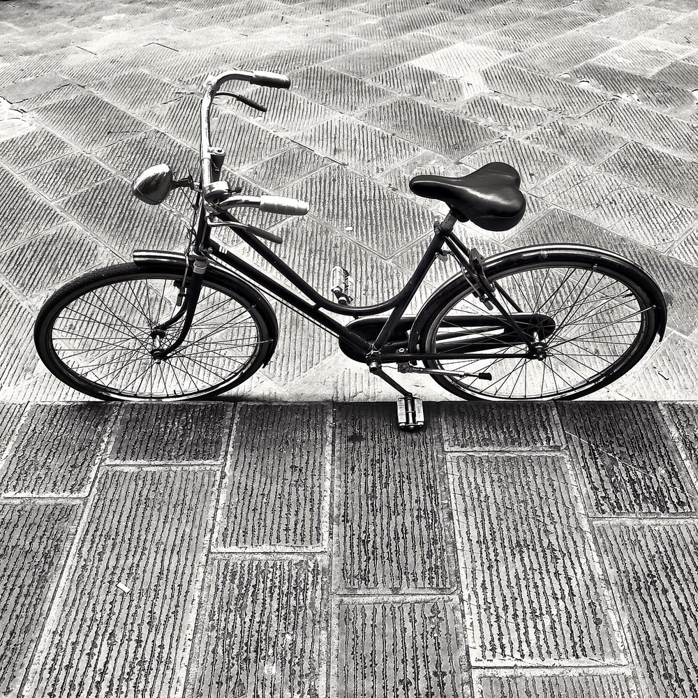 Bicycle, Parked at the curb
