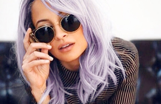 Too dark? We think Nicole Richie looks smashing in lilac!