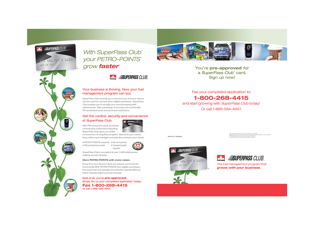Petro Canada Super Pass Direct Mail