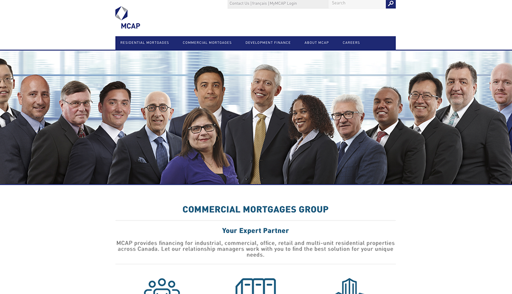 MCAP Commercial Mortgages Team Website