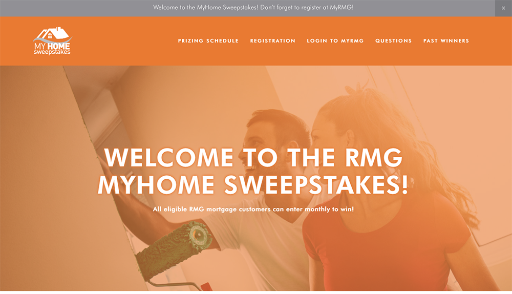 RMG MyHome Sweepstakes 2019 Site