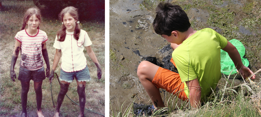 My nephew Jake playing in the same mud today that his mom and I did about 40 years ago!