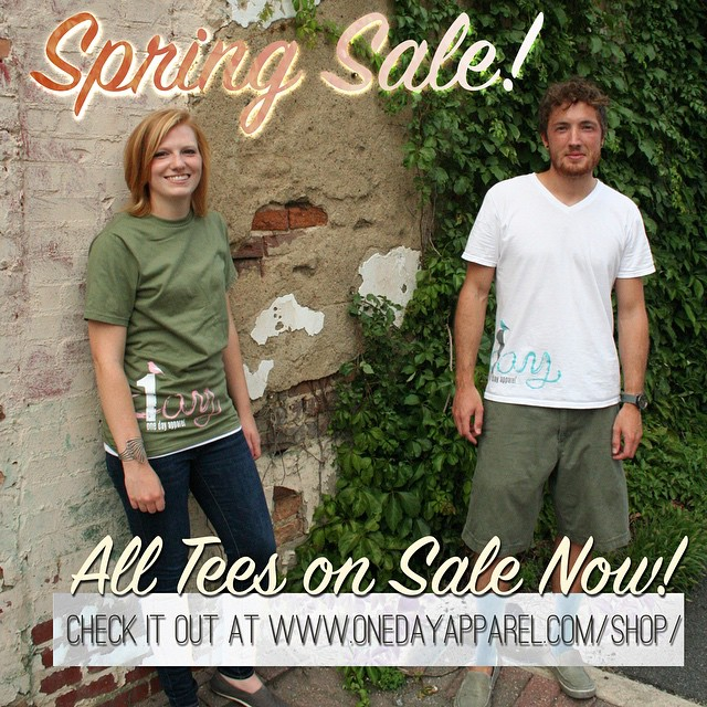 Spring Sale!! Check it out on our site! www.onedayapparel.com/shop/ #springtime #onedayatatime #onedayapparel