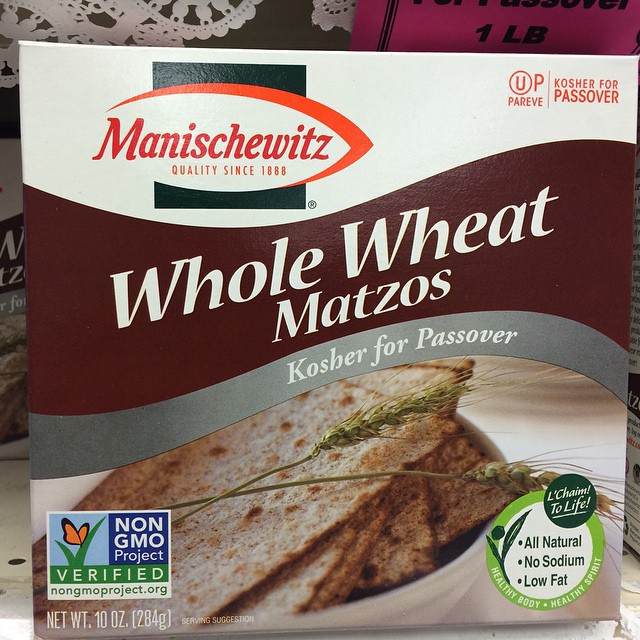 Matzah that is NonGMOProjectVerified now I've seen it all.