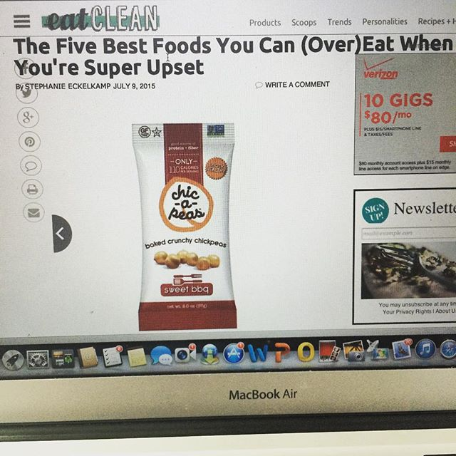 Proud to be a part of @eatcleanfeed five best foods to can (over) eat when you're super upset #snackhealthy