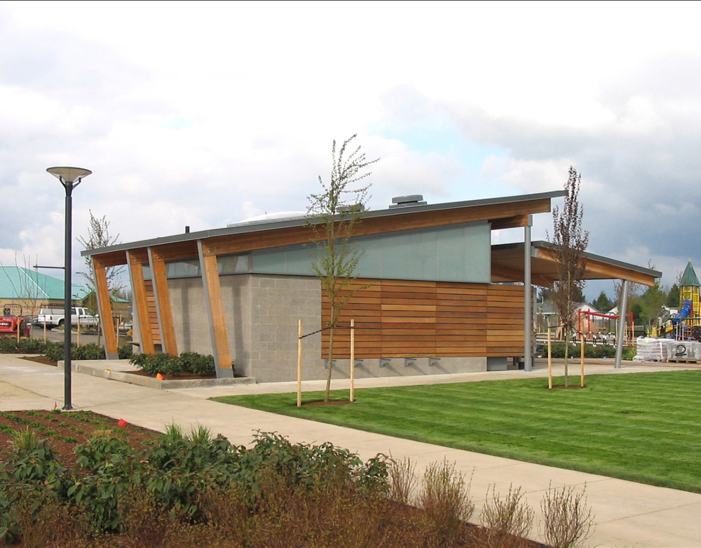 Discovery meadows park shelters in situ architecture for Park restroom design