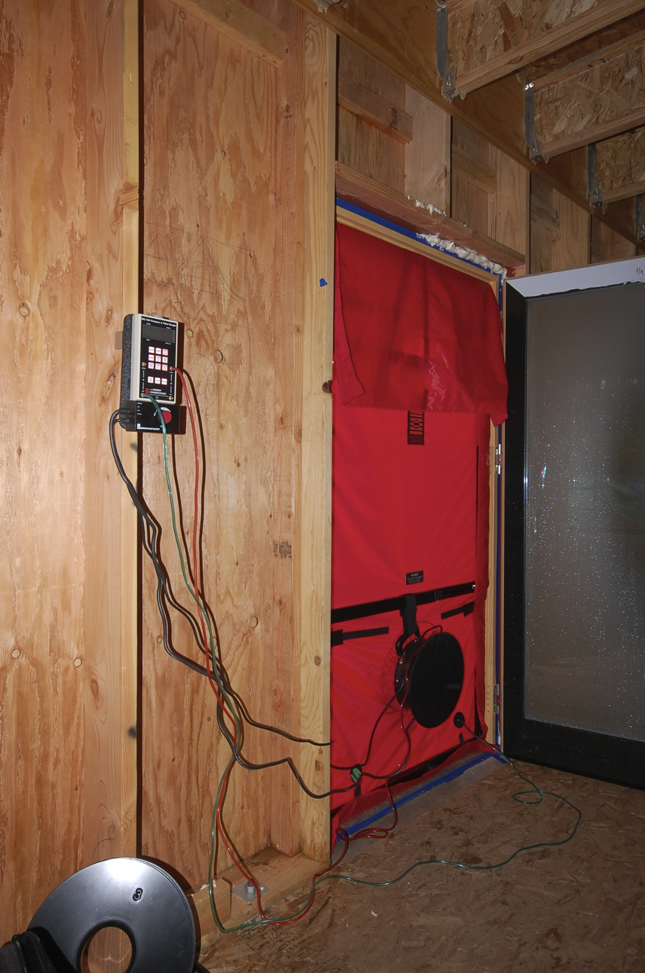 44 Ach In Situ Architecture Wiring Vs First Blower Door Test At 50 Pa