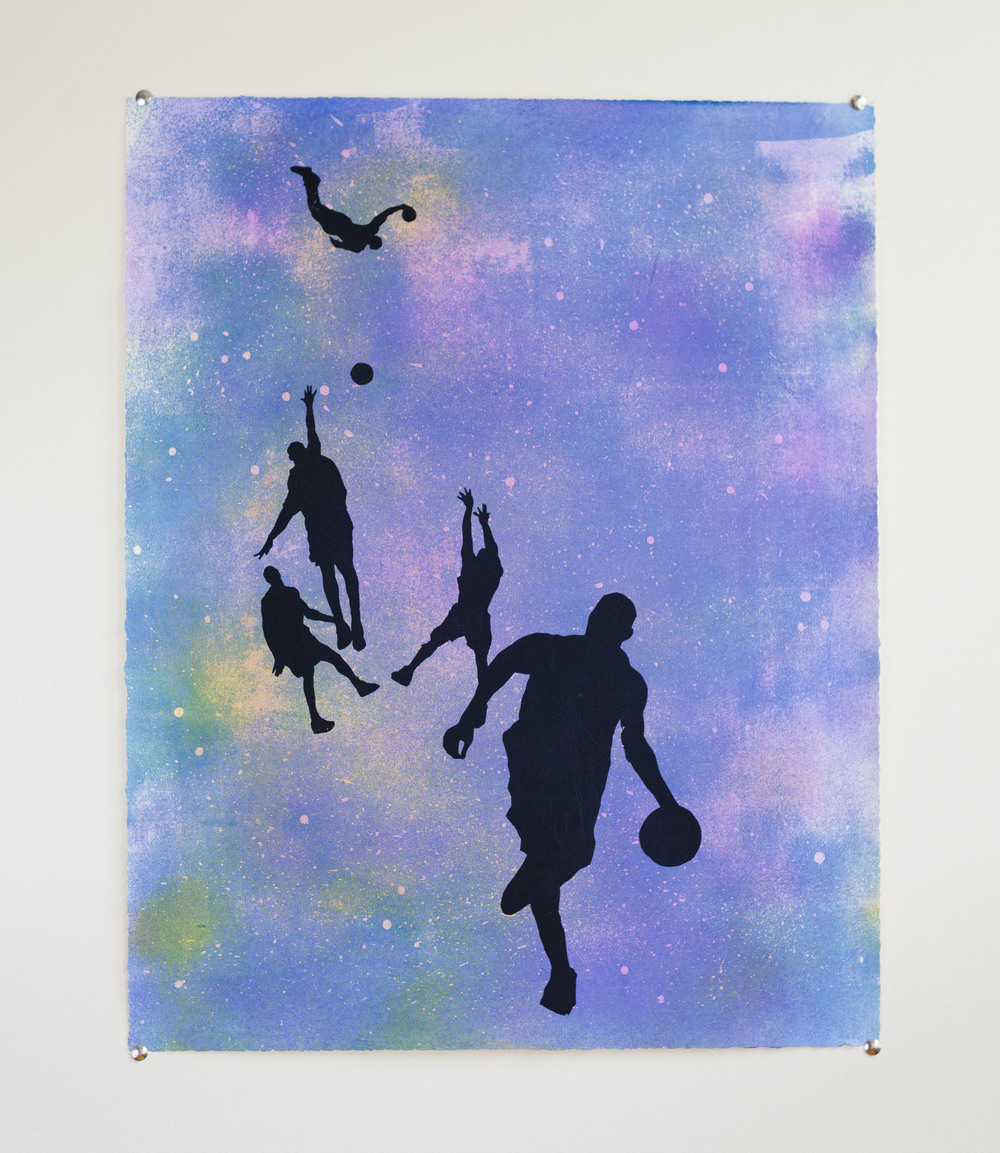 Basketball Players in Space