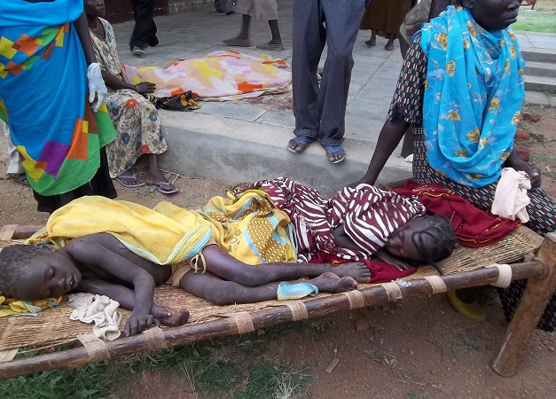Christian children injured from bombings in Nuba
