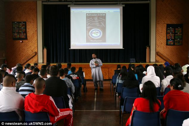 Park View school is at the center of allegations that hardline Islamic teaching was being introduced. In a 2008 picture boys and girls are clearly segregated during an assembly. The school previously claimed any segregation was voluntary, but an Ofsted inspection said it was enforced by teachers.