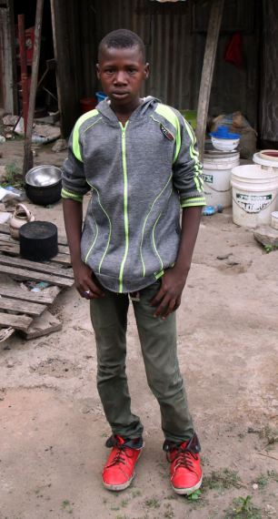 Saviour: 15-year-old Baba Goni helped find two of the schoolgirls.