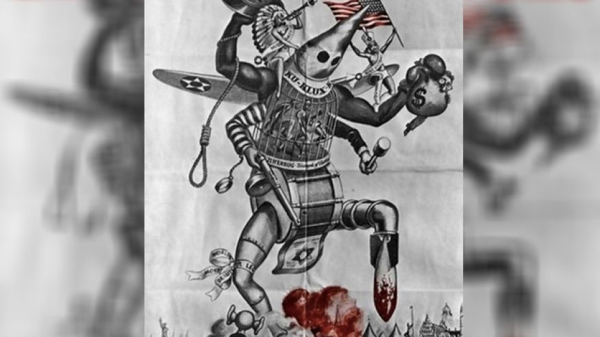 This Nazi propaganda poster was posted on the tumblr page of the Vassar College chapter of Students for Justice in Palestine. The blog posting upset other students, leading the school administration to launch an investigation.