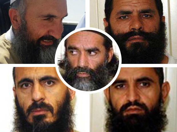 From top left: Khairullah Khairkhwa, Mohammad Fazl, Abdul Haq Wasiq, Mohammed Nabi, and Norullah Noori, center.