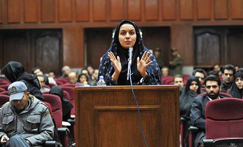 Reyhaneh Jabbari in court.
