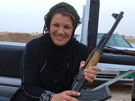 Umayyah Naji Jabara, a women's affairs advisor to the governor, took up arms against ISIS