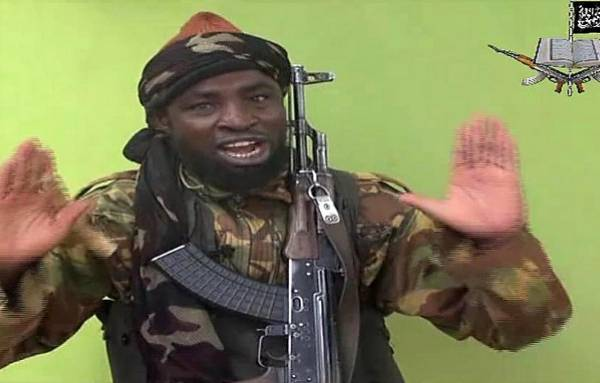 A screengrab from a video released by Nigerian Islamist extremist group Boko Haram and shows a man claiming to be the leader of Nigerian Islamist extremist group Boko Haram Abubakar Shekau. Picture: AFP PHOTO / BOKO HARAM