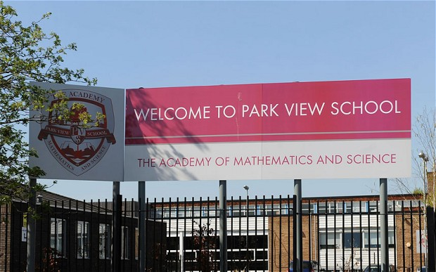 Park View School in Birmingham, one of 13 schools where evidence of religious extremism was found Photo: PA