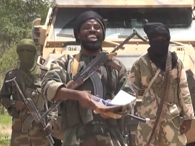A screengrab taken on July 13, 2014 from a video released by the Nigerian Islamist extremist group Boko Haram shows the leader of the Nigerian Islamist extremist group.