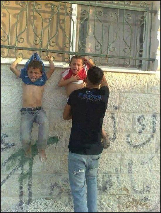 Hamas Terrorists in Gaza Hang Children as Human Shields Christian