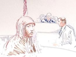 Sketch of Hinda Osman Dhirane in Federal Court