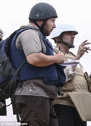 Dedicated: Steven Sotloff pictured on assignment in Libya in 2013