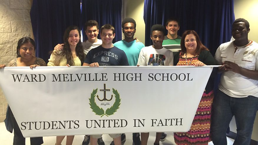 After being banned and then reinstated from campus last year, the Christian Club at Ward-Melville High School is once again fighting for recognition. (Courtesy John Raney)