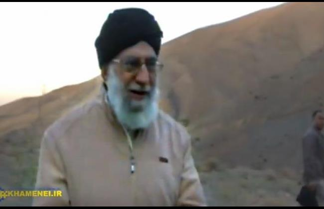 Still video image showing Ayatollah Ali Khamenei on his first outdoors walk since undergoing prostate surgery, Oct. 10, 2014.
