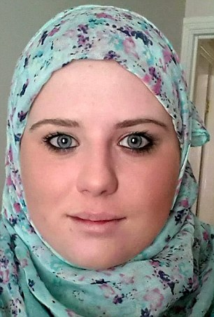 Converted: Vikki Horsman, 19, who converted to Islam for 80-year-old Mohammed Rafiq, had acid thrown in her face after he allegedly arranged for the liquid to be hurled over her as she answered the door.