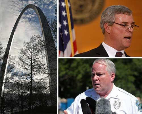 The Gateway Arch, St. Louis County Prosecuting Attorney Bob McCulloch and Ferguson Police Chief Thomas Jackson were the alleged targets of a plot to bomb the Arch and kill both men.
