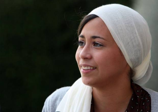 "Samantha Elauf is interviewed outside of the federal courthouse in downtown Tulsa in 2011 after a court proceeding. Elauf, who is Muslim and wears a headscarf, was at the center of a lawsuit alleging that clothing company Abercrombie & Fitch didn't hire her because she didn't fit the ""Abercrombie style."" CORY YOUNG/Tulsa World File"