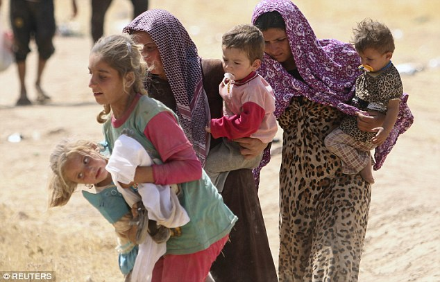 It is thought that most of the executed women were from the Yazidi sect in Iraq (pictured)